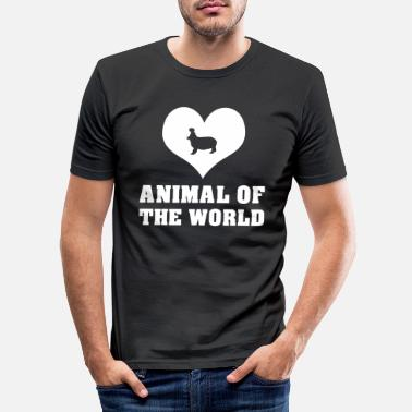 Animalbird The animal of the world heart - Men's Slim Fit T-Shirt