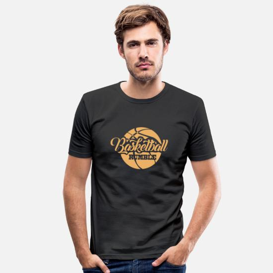 Digital T-Shirts - Basketball - Men's Slim Fit T-Shirt black