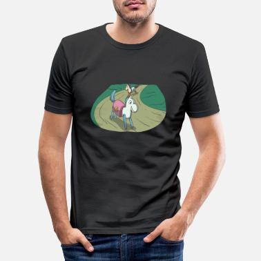 Sword Wooden horse at the horse race - Men's Slim Fit T-Shirt