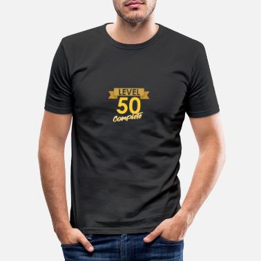 Over The Hill Birthday 50 birthday level 50 complete gift - Men's Slim Fit T-Shirt