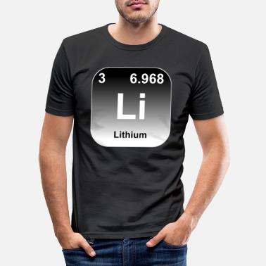 Atom Lithium - Männer Slim Fit T-Shirt