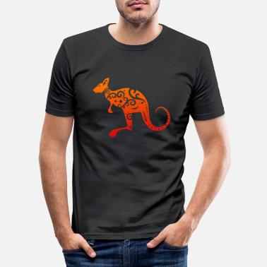 Tribal Maori-Känguru Polynesian Tribal Tattoo Geschenk - Männer Slim Fit T-Shirt