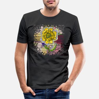 Rose Flower - Men's Slim Fit T-Shirt