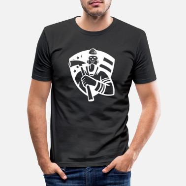Kung firefighter shield - T-shirt slim fit herr