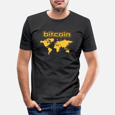 Intern Bitcoin earth - Men's Slim Fit T-Shirt