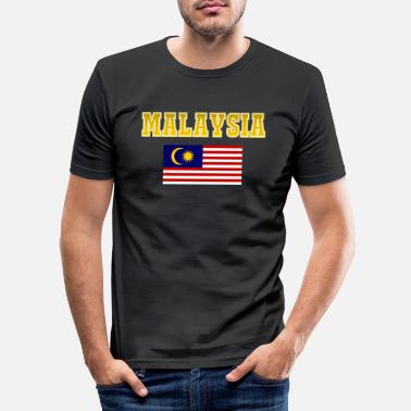 Twin Towers Malaysia kollegial gave - Slim fit T-skjorte for menn