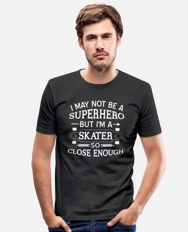 Ollie T-Shirts - Longboard Skateboard Sport Ice Skate Gift - Men's Slim Fit T-Shirt black