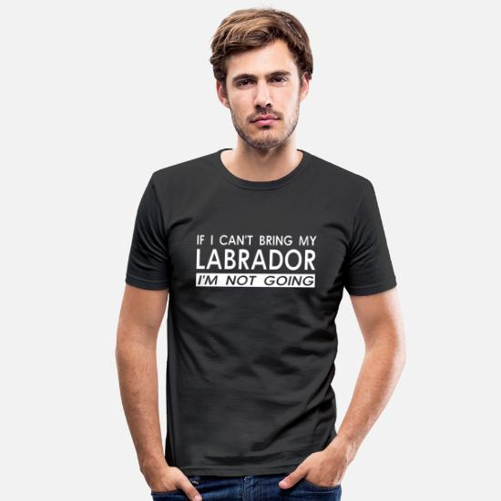 Labrador T-shirts - Labrador Retriever Dog Pet Bow Wow Puppy Dog - T-shirt moulant Homme noir