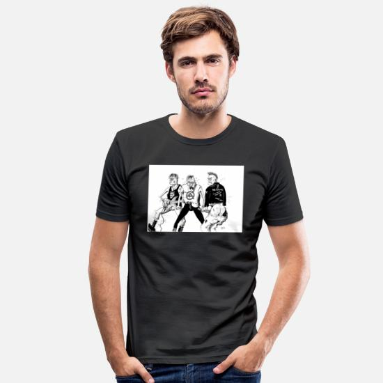 Punk Rock T-shirts - Punk 01 MH - T-shirt moulant Homme noir
