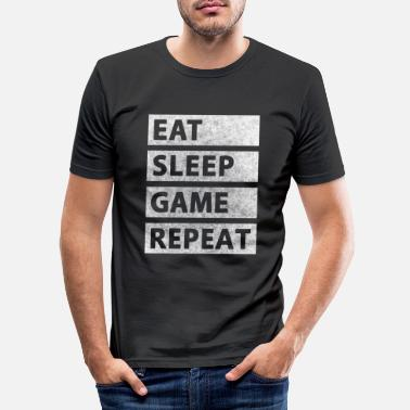 Game Eat Sleep Game Repeat - Männer Slim Fit T-Shirt