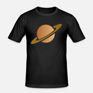 Saturn Saturn - Männer Slim Fit T-Shirt