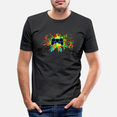 Graffiti Controller Splatter - Slim fit T-shirt mænd