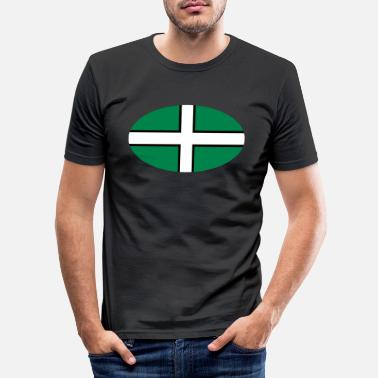 Devon Devon Flagge - Männer Slim Fit T-Shirt