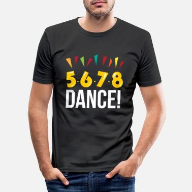 Country 5 6 7 8 Ligne Dance Line Linedancing Country - T-shirt moulant Homme