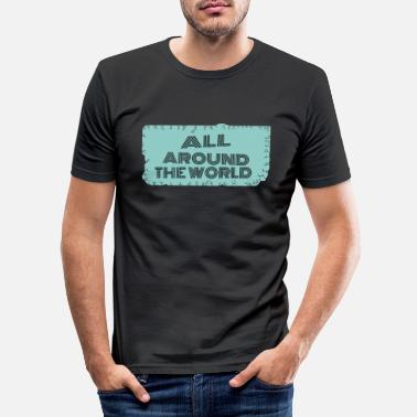 Bug travel - all around the world - Men's Slim Fit T-Shirt