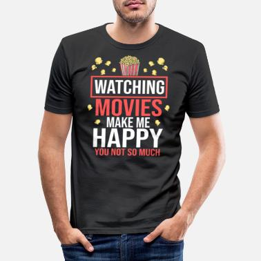 Cinéma Cinéma Cinéma Cinéma Popcorn Cinéma Spectacles - T-shirt moulant Homme