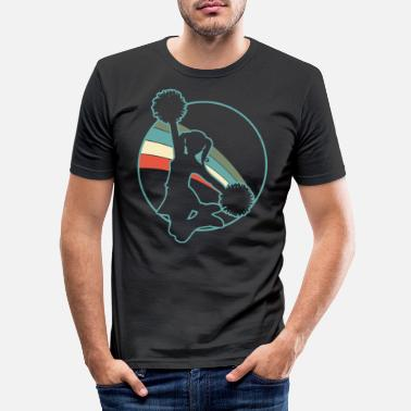 American Football Cheerleader Retro - Männer Slim Fit T-Shirt