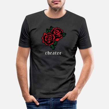 Emo Cheater Soft Grunge Aesthetic Red Rose Gift - Men's Slim Fit T-Shirt