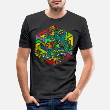 Mythologie Mythologie Drache - Männer Slim Fit T-Shirt