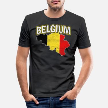 National Belgium Nation Nationality - Men's Slim Fit T-Shirt