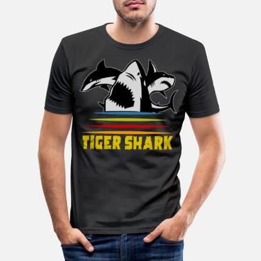 Animal Requin tigre animaux marins - T-shirt moulant Homme