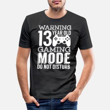 Dreizehn Warning 13 Year Old In Gaming Mode - Männer Slim Fit T-Shirt