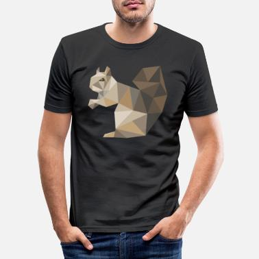 Squirrel Squirrel geometry - Men's Slim Fit T-Shirt