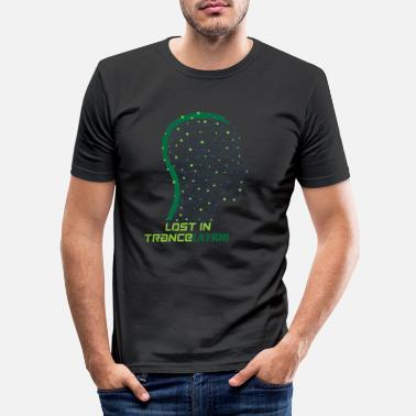 Trance Trance Psytrance Goa T-Shirt Lost in Trancelation - Men's Slim Fit T-Shirt