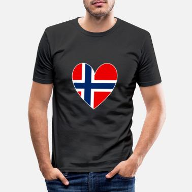 Norway Norway Heart - Men's Slim Fit T-Shirt