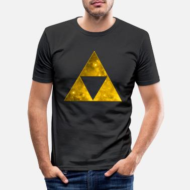 3d Space Triangle, Mathematics, Universe, Triforce, - T-shirt slim fit herr
