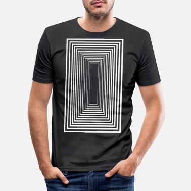 Optische Illusie Tunnelvisie - Mannen slim fit T-shirt