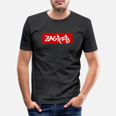 Zagreb zagreb - T-shirt slim fit herr