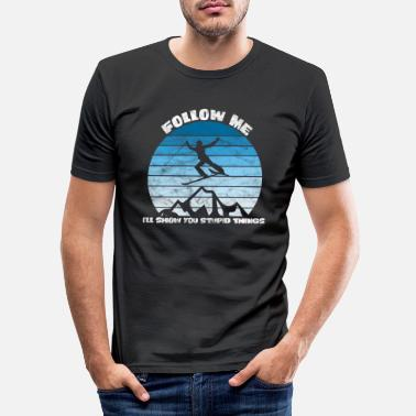 APRES SKI DESIGN FOR SKIERS AND SNOWBOARDERS - Men's Slim Fit T-Shirt