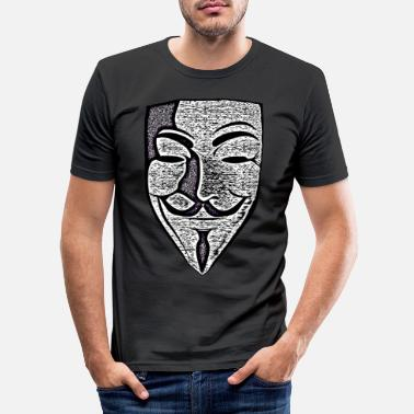 Anonymous Anonymous Effect Mask 01 - Männer Slim Fit T-Shirt