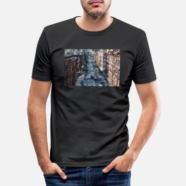 China-Town New York - Männer Slim Fit T-Shirt