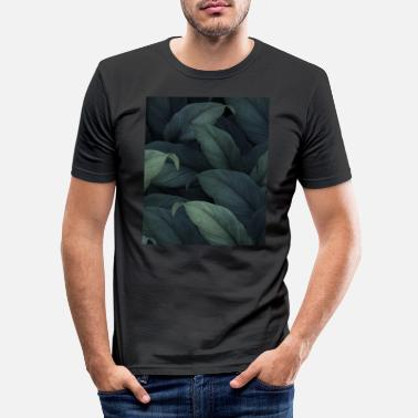 Teenager Beautiful Pattern Floral Green Leaves - Männer Slim Fit T-Shirt