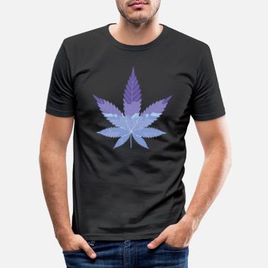 Rectangle Cannabis - Men's Slim Fit T-Shirt