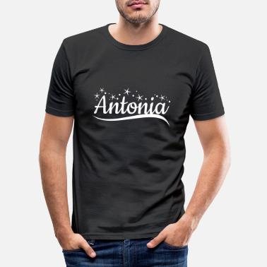 Antonia surname first name - Men's Slim Fit T-Shirt