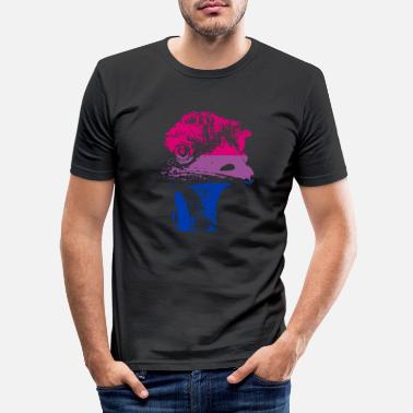 Colour Bi Pride Emu - Men's Slim Fit T-Shirt