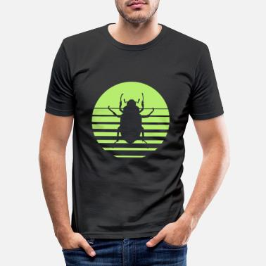 Insect logo insect dieren bos - Mannen slim fit T-shirt