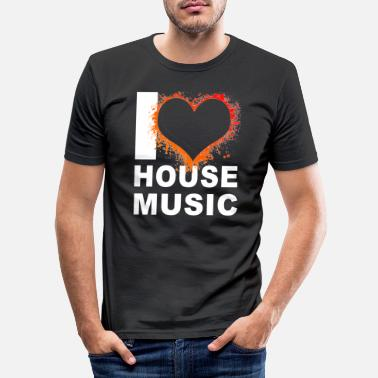 House Music I love House music 2 - Männer Slim Fit T-Shirt