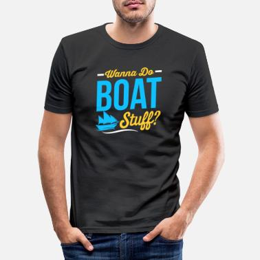 Bateau Bateau Bateau Bateau Cadeau - T-shirt moulant Homme