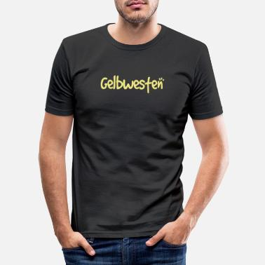 Yellow West yellow west - Men's Slim Fit T-Shirt