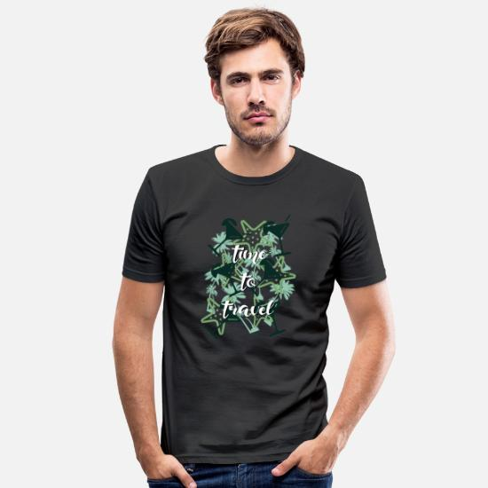 Motorcycle T-Shirts - to travel - Men's Slim Fit T-Shirt black