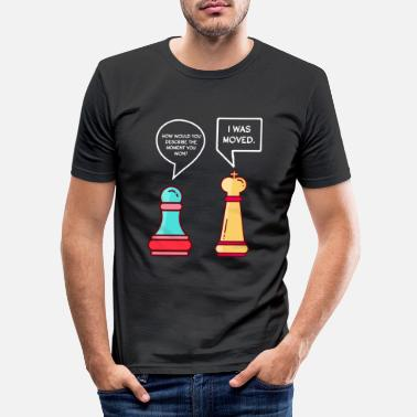 Piece Funny chess pieces - Men's Slim Fit T-Shirt