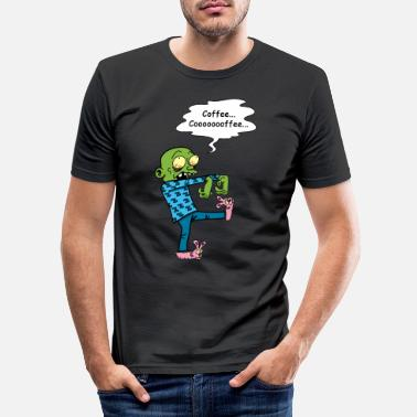 Cult Zombie who wants a coffee - Men's Slim Fit T-Shirt
