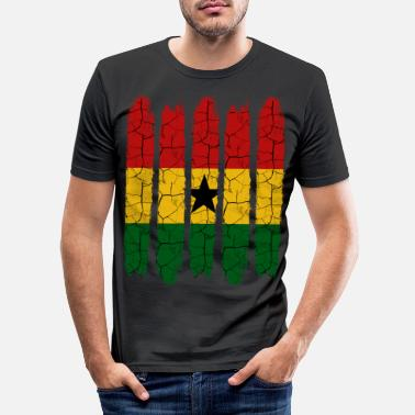Patriot Trendy Ghana Modern Nationalfarben Land Geschenk - Männer Slim Fit T-Shirt