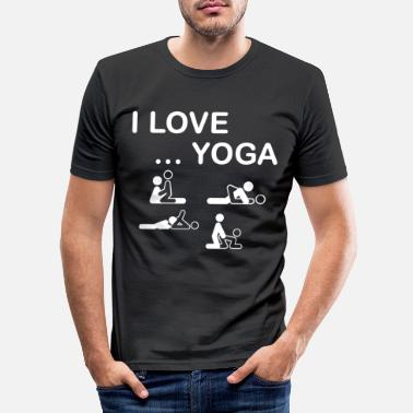 Sport Love sex yoga - Men's Slim Fit T-Shirt