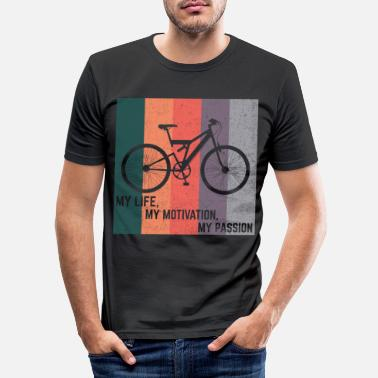 Trains Bike shirt cycling cycling gift - Men's Slim Fit T-Shirt