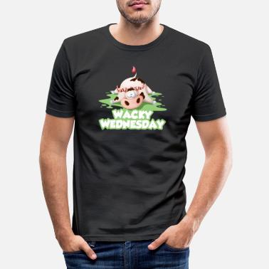 Bse Wacky Wednesday cow BSE work office day - Men's Slim Fit T-Shirt